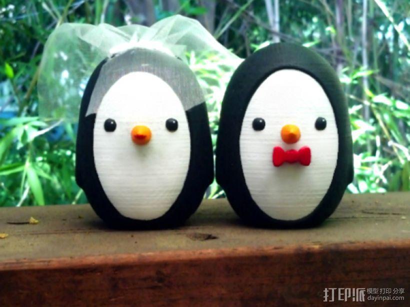 婚礼企鹅 3D模型  图1