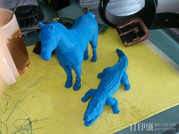 短吻鳄 3D模型  图3