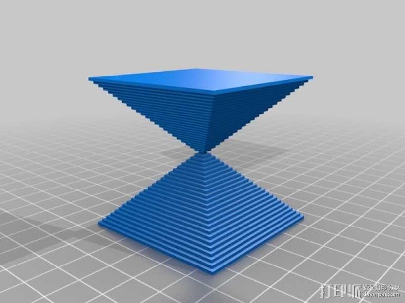 沙漏锥  3D模型  图1