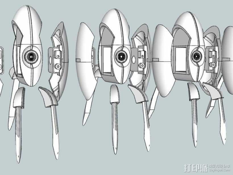 传送门炮塔 3D模型  图1