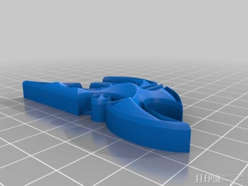 星际争霸标志 3D模型  图3