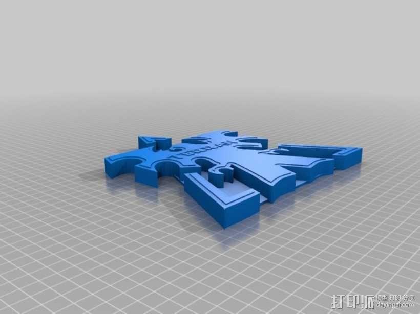 星际争霸标志 3D模型  图4
