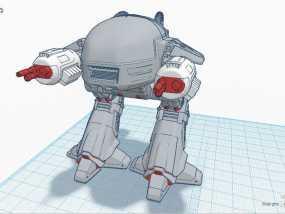 ED-209机器人 3D模型