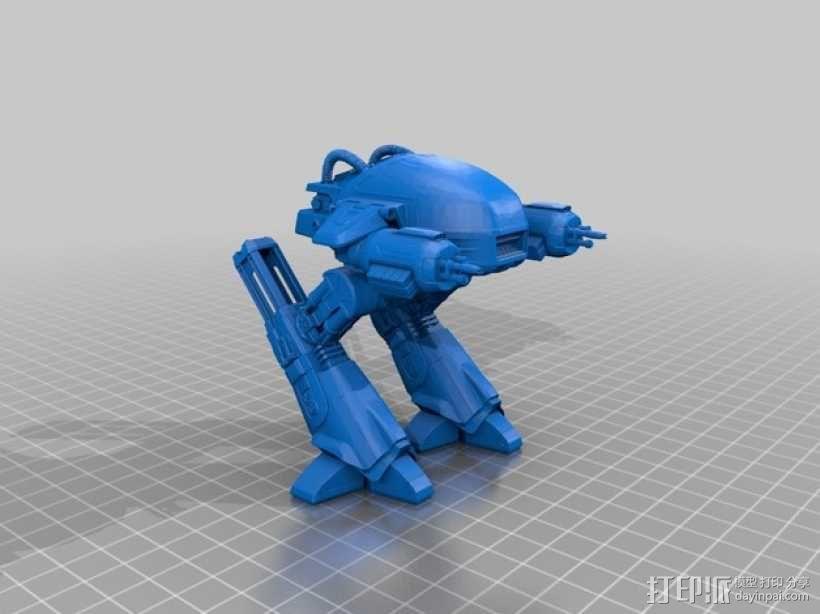 ED-209机器人 3D模型  图2
