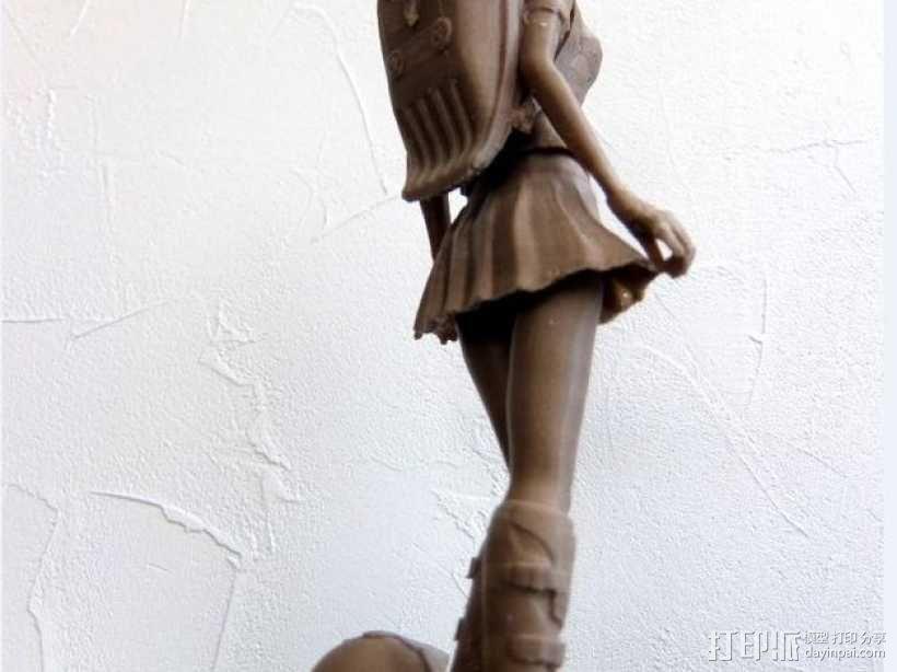 校服女孩 3D模型  图1