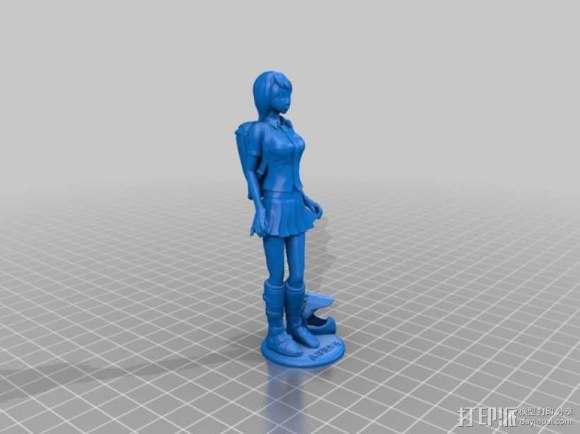 校服女孩 3D模型  图2