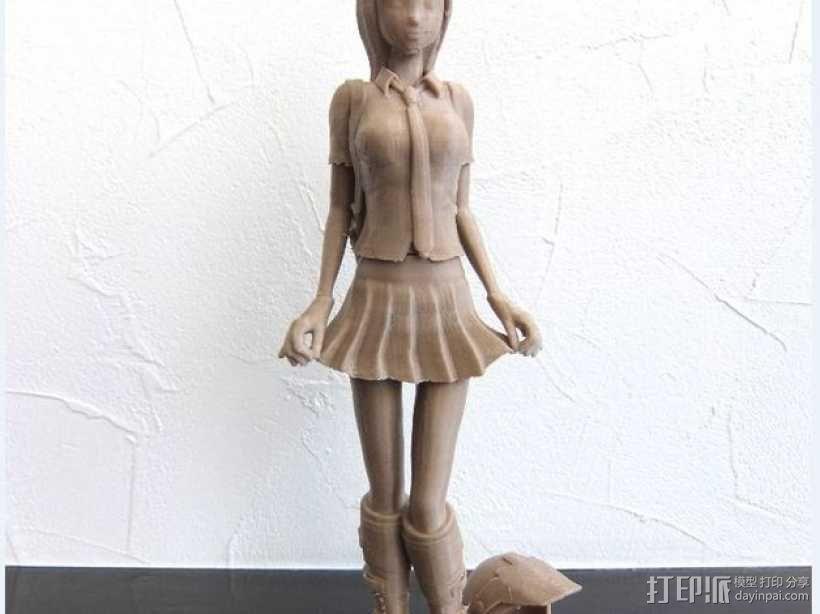 校服女孩 3D模型  图4