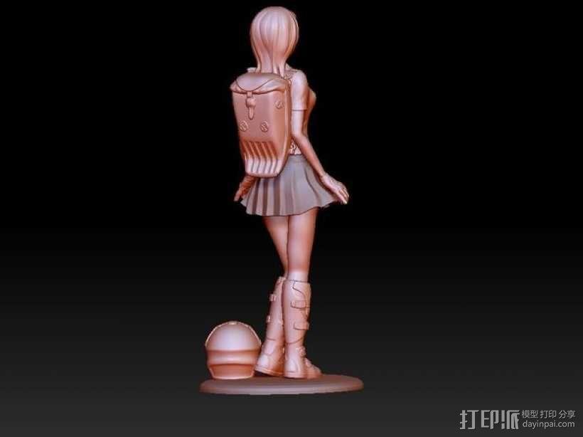 校服女孩 3D模型  图7
