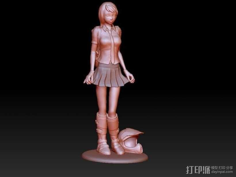 校服女孩 3D模型  图6