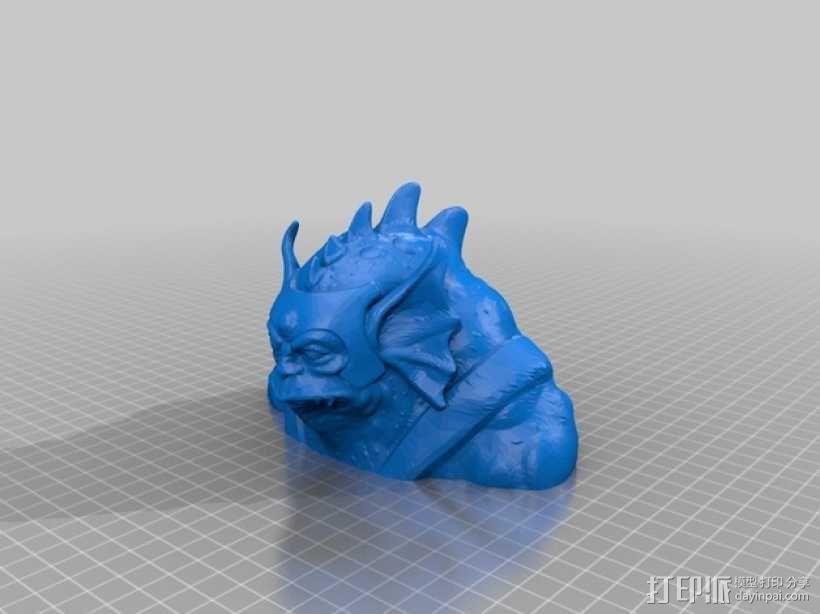 变身后的霹雳猫半身像 3D模型  图1