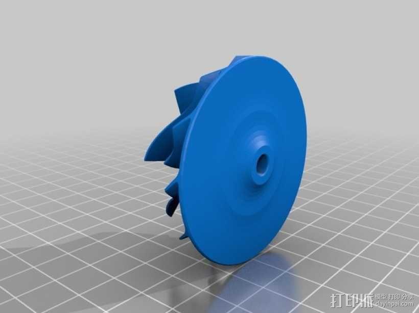 涡轮增压器涡轮 3D模型  图2