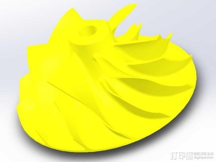 涡轮增压器涡轮 3D模型  图1