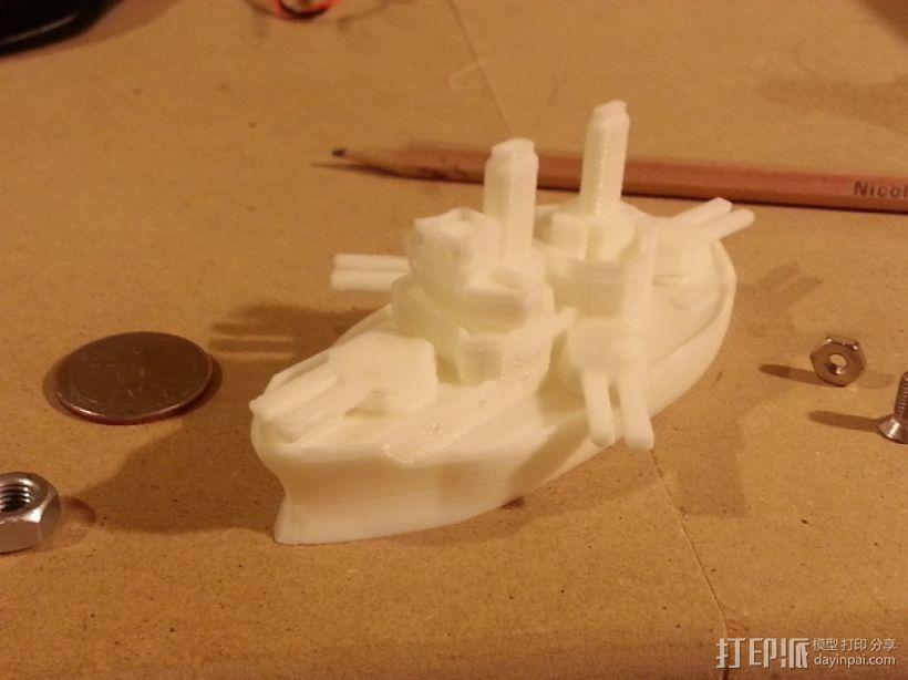 无畏号战舰 3D模型  图1