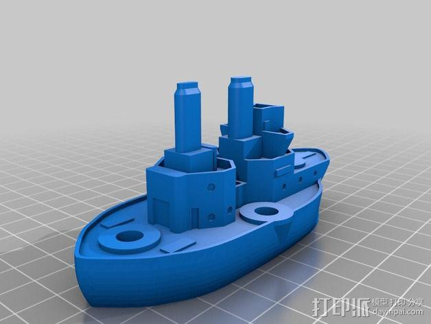 无畏号战舰 3D模型  图4