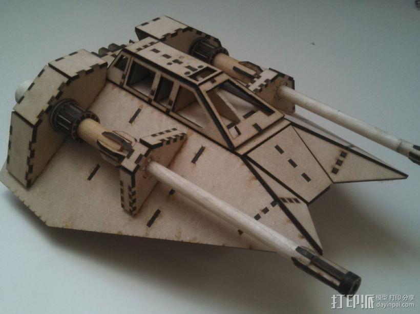 星球大战雪地战机 3D模型  图1