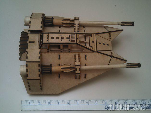 星球大战雪地战机 3D模型  图6
