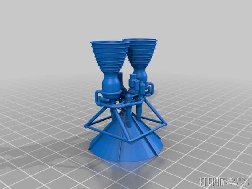 Titan II GLV飞行器引擎 3D模型  图3