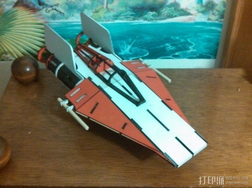 星球大战A翼拦截机 3D模型  图1