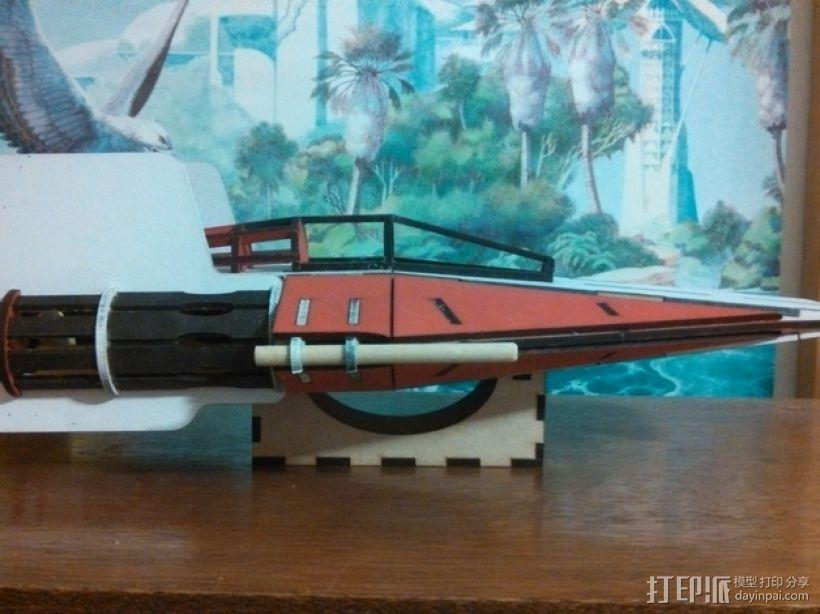 星球大战A翼拦截机 3D模型  图6