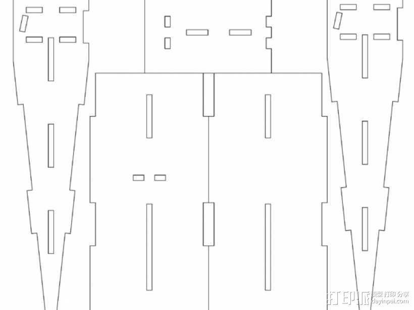 星球大战A翼拦截机 3D模型  图3