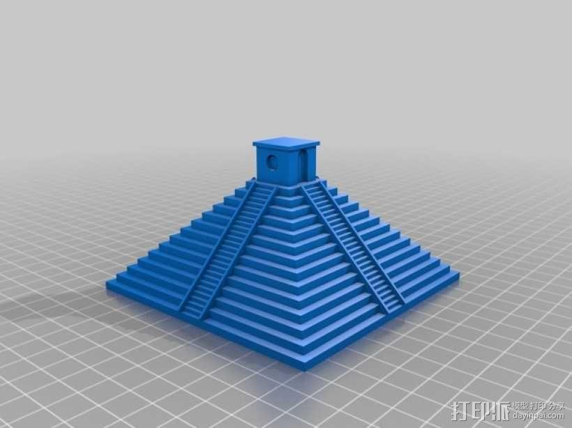 玛雅金字塔模型 3D模型  图1