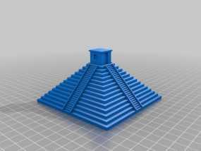 玛雅金字塔模型 3D模型