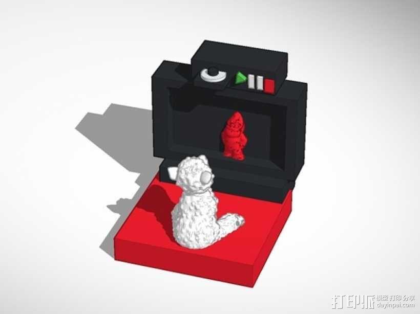 看电视的小羊 3D模型  图1