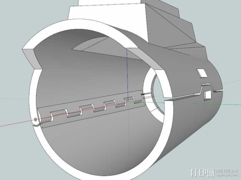 星球大战 曼达洛人的护臂盔甲 3D模型  图1