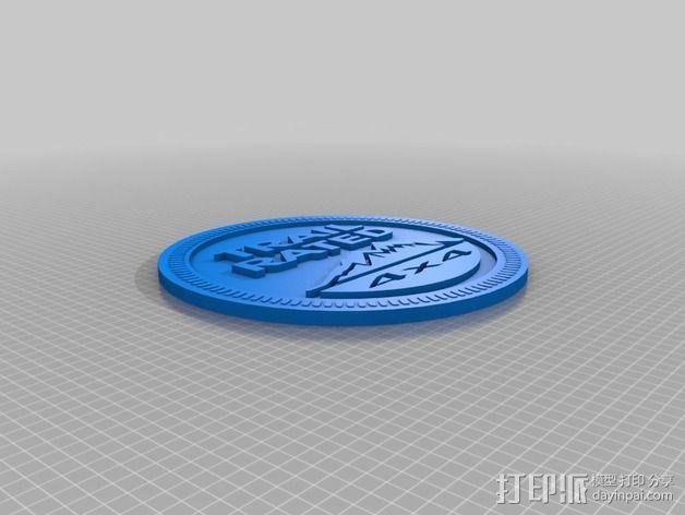 吉普车车标 3D模型  图2