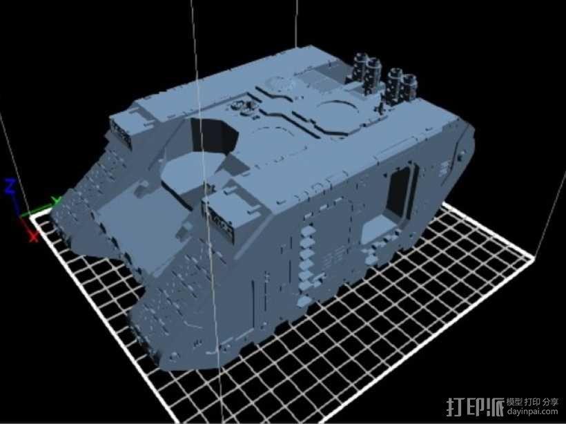Land Raider坦克 3D模型  图1