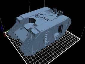 Land Raider坦克 3D模型