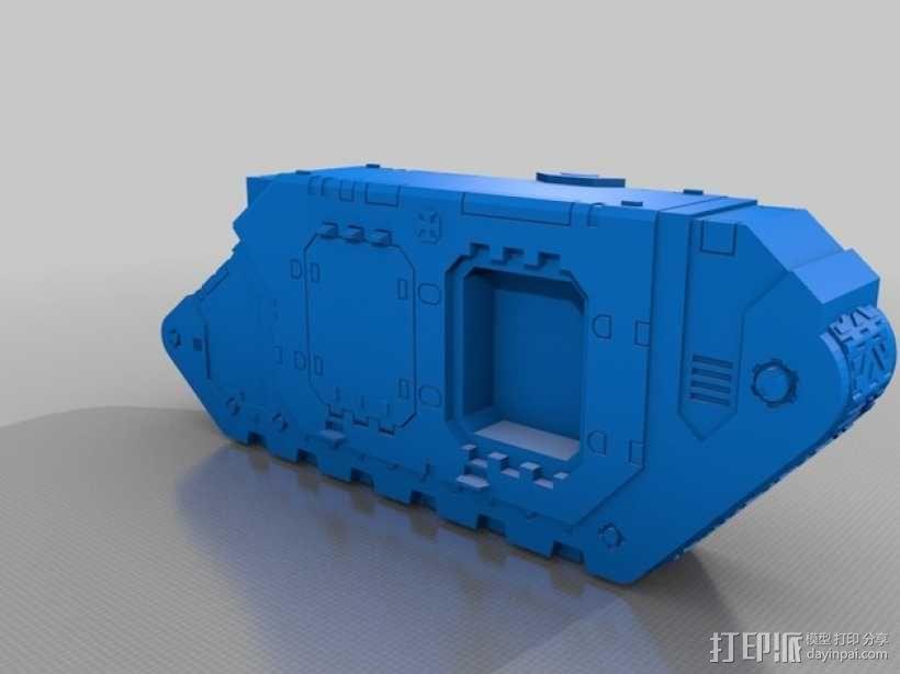 Land Raider坦克 3D模型  图4