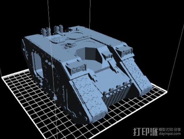Land Raider坦克 3D模型  图2