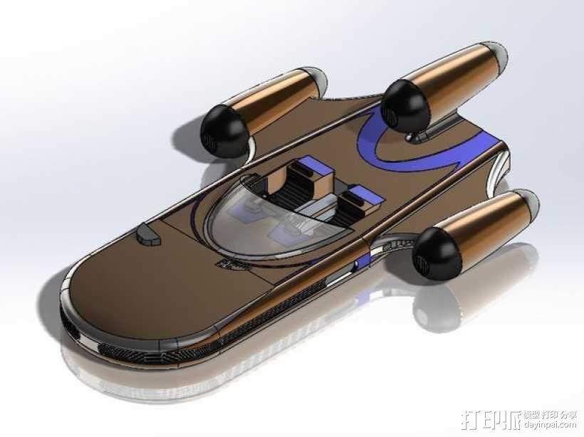 星球大战陆行艇 3D模型  图1