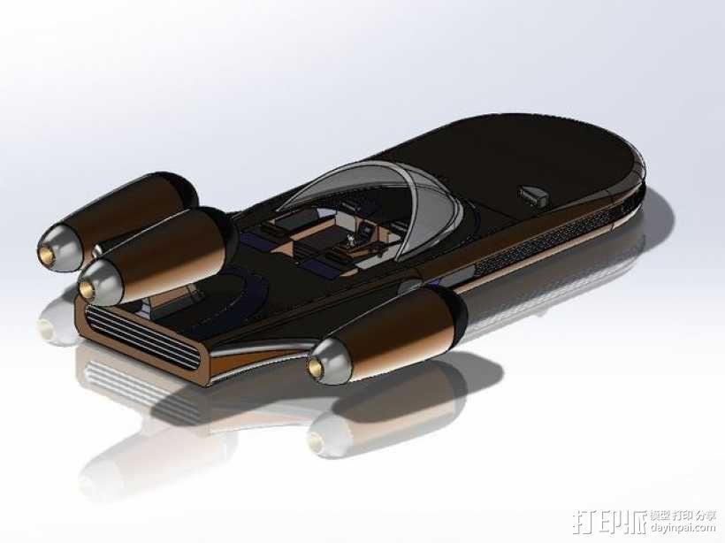 星球大战陆行艇 3D模型  图4