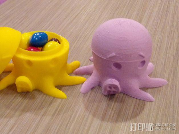 章鱼糖果罐 3D模型  图1