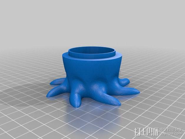 章鱼糖果罐 3D模型  图4