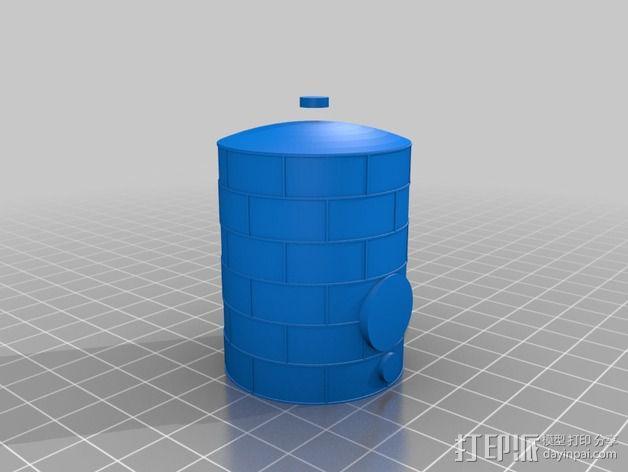 储油罐 3D模型  图2