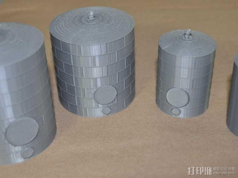 储油罐 3D模型  图1