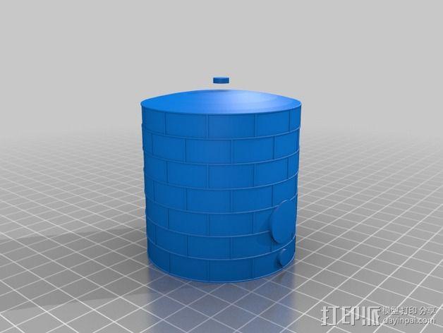 储油罐 3D模型  图3