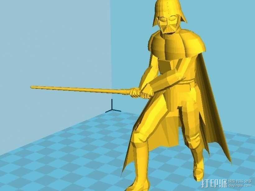 星球大战人物 达斯维达 3D模型  图1