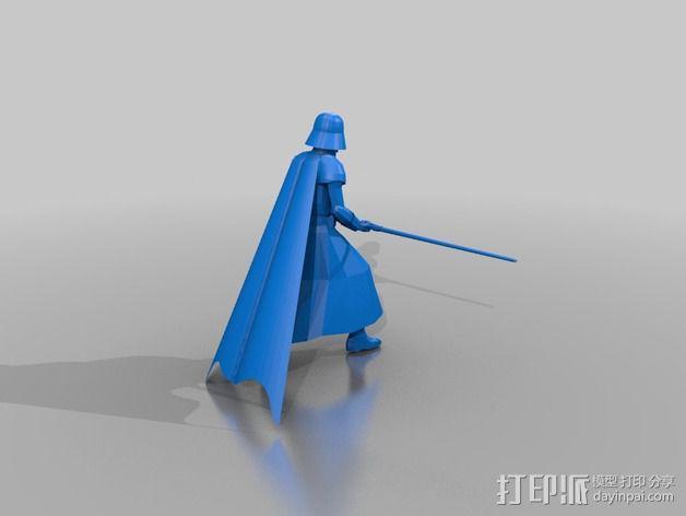 星球大战人物 达斯维达 3D模型  图2