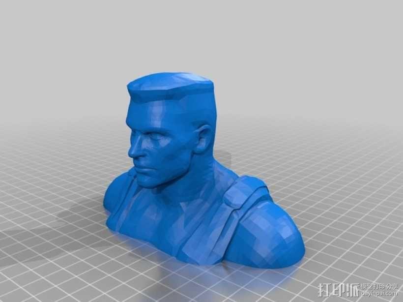 毁灭公爵半身像 3D模型  图1