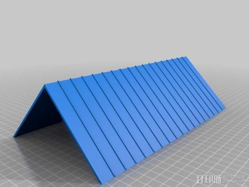 廊桥 火车轨道 3D模型  图2