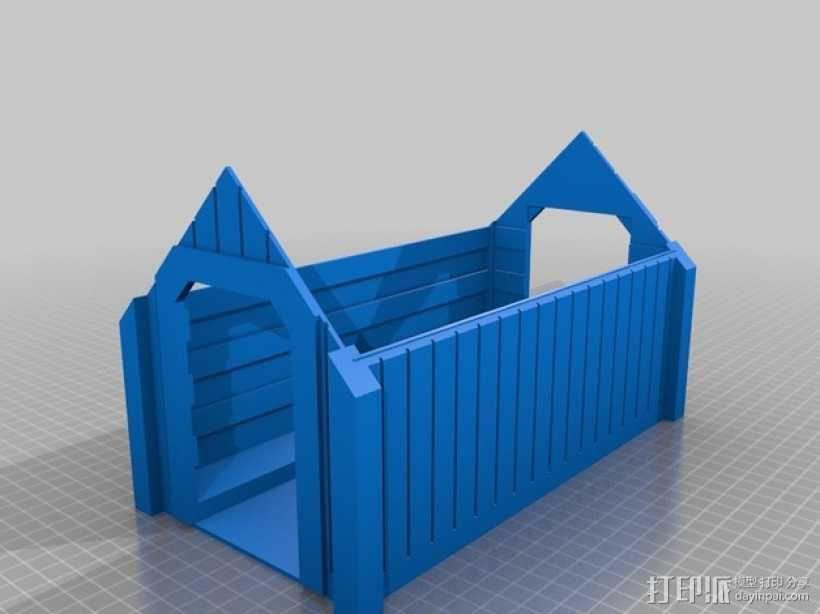 廊桥 火车轨道 3D模型  图3