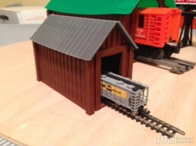 廊桥 火车轨道 3D模型  图4