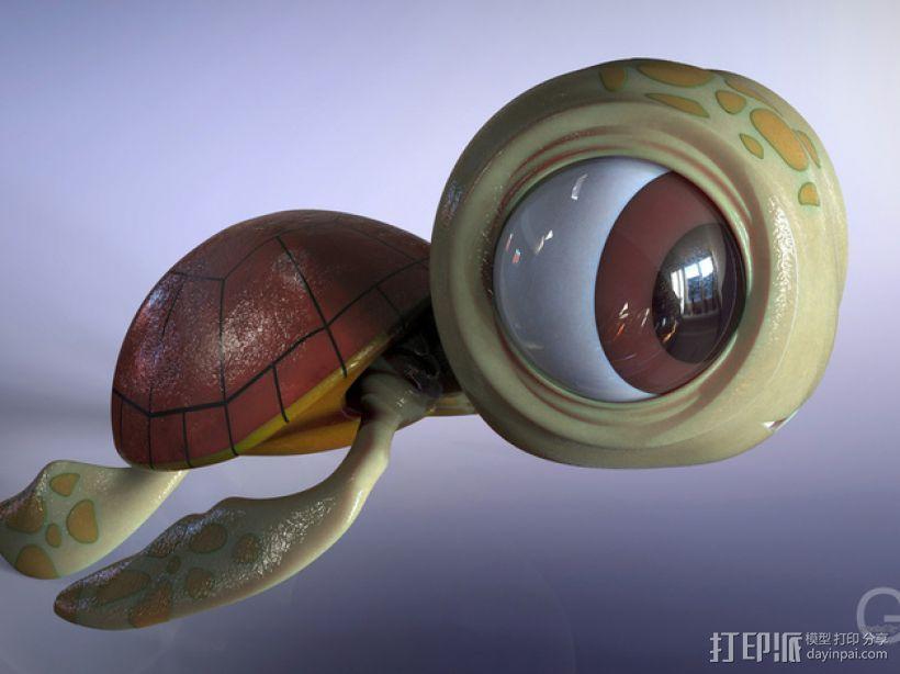 小海龟 3D模型  图1