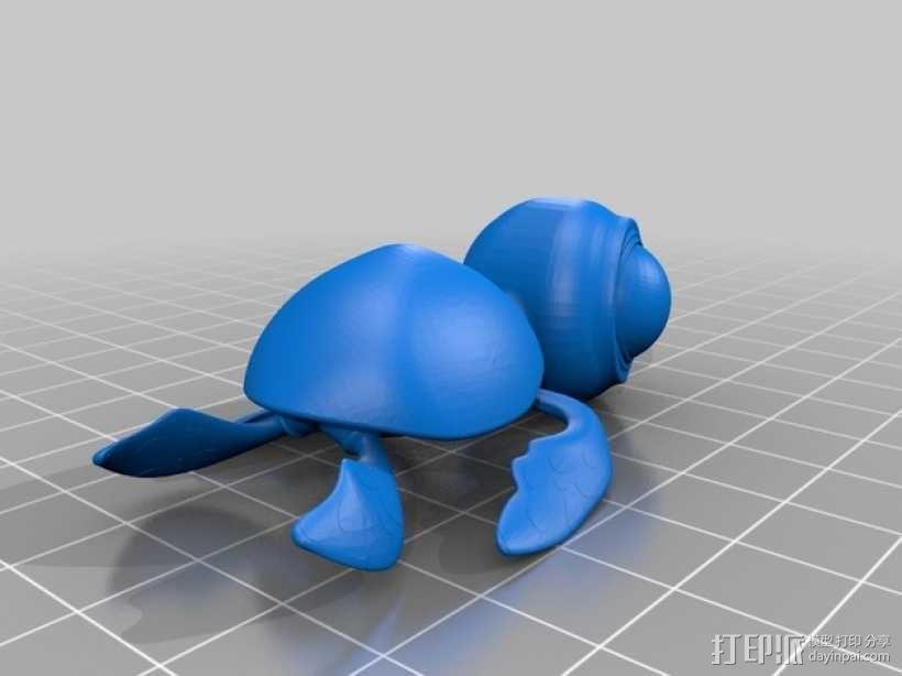 小海龟 3D模型  图2
