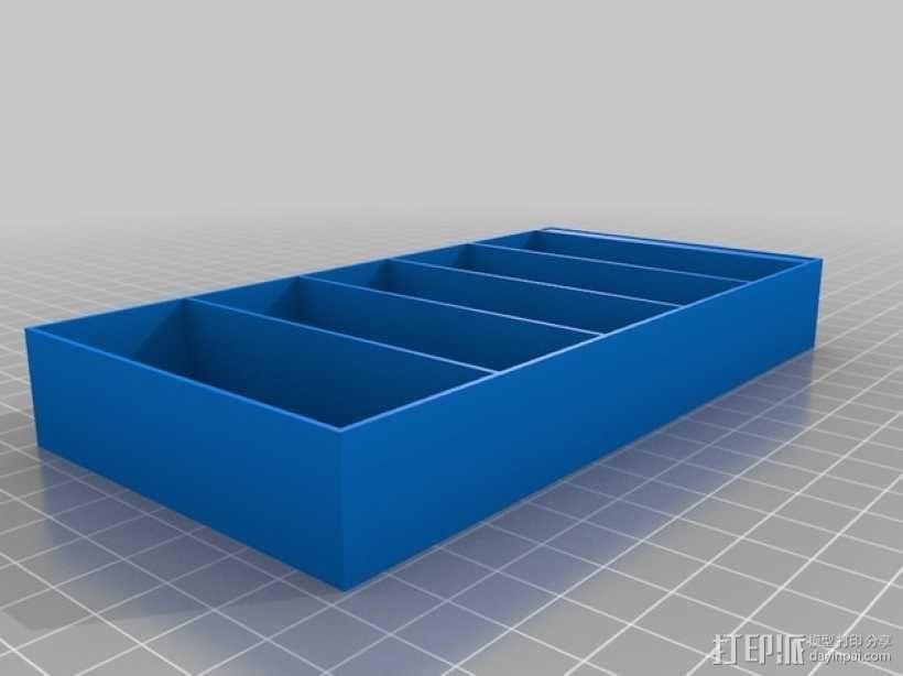 书橱 书架 书柜 3D模型  图1