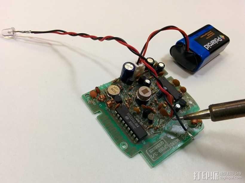 塔迪斯运动传感闹钟 3D模型  图7
